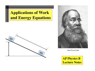 Applications of Work and Energy Equations