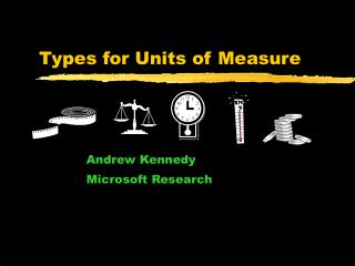 Types for Units of Measure