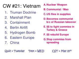 CW #21: Vietnam