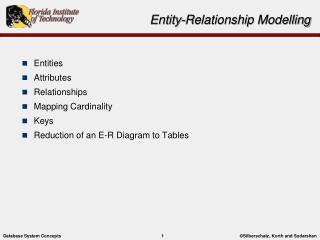 Entity-Relationship  Modelling