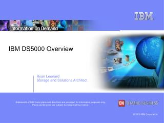 IBM DS5000 Overview