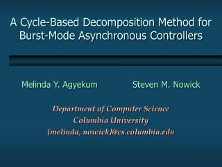 A Cycle-Based Decomposition Method for Burst-Mode Asynchronous Controllers