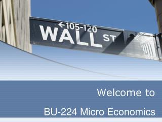 BU-224 Micro Economics