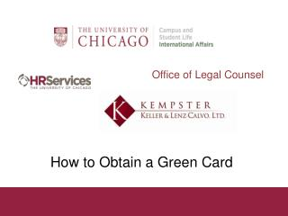 How to Obtain a Green Card