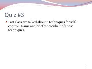 Quiz #3