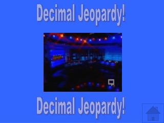 Decimal Jeopardy!
