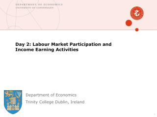 Day 2: Labour Market Participation and Income Earning Activities