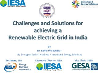 Challenges and Solutions for achieving a  Renewable Electric Grid in India
