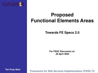 Proposed Functional Elements Areas