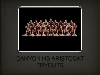 CANYON HS ARISTOCAT TRYOUTS