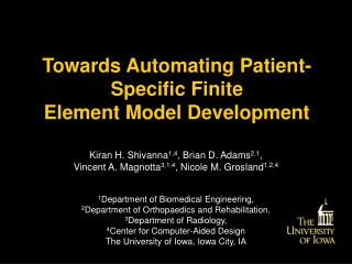 Towards Automating Patient-Specific Finite                          Element Model Development