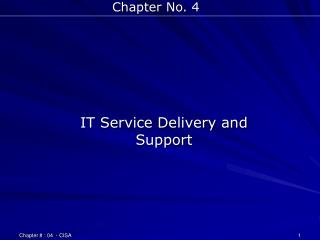 IT Service Delivery and Support