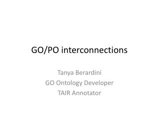 GO/PO interconnections