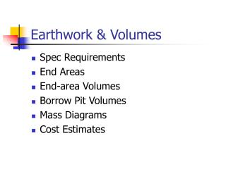 Earthwork & Volumes