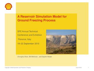 A Reservoir Simulation Model for Ground Freezing Process