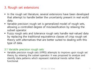 3. Rough set extensions