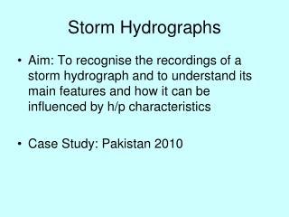 Storm Hydrographs