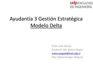 Ayudantía 3 Gestión Estratégica Modelo Delta