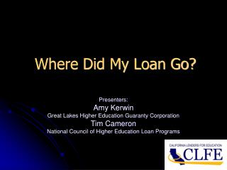 Where Did My Loan Go?