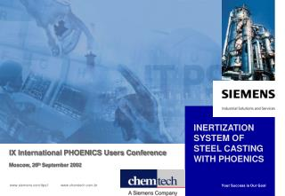 INERTIZATION SYSTEM OF STEEL CASTING WITH PHOENICS
