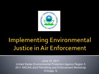Implementing Environmental Justice in Air Enforcement