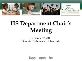 HS Department Chair's Meeting