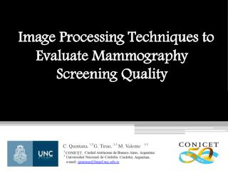 Image Processing Techniques to Evaluate Mammography Screening Quality