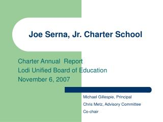 Joe Serna, Jr. Charter School