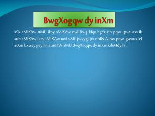 BwgXogqw dy inXm