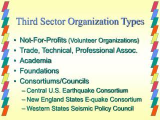 Third Sector Organization Types