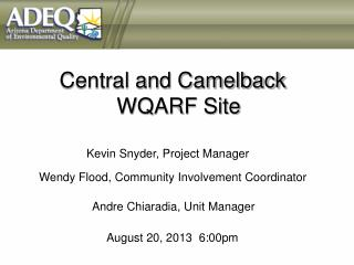Central and Camelback   WQARF Site