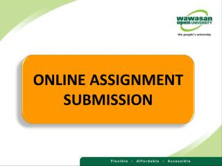 ONLINE ASSIGNMENT SUBMISSION