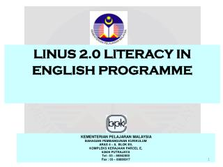 LINUS 2.0 LITERACY IN ENGLISH PROGRAMME