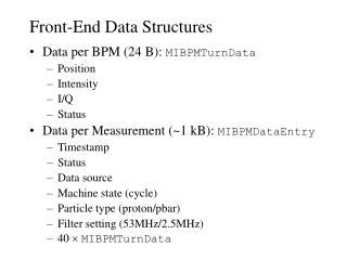 Front-End Data Structures