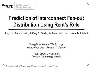 Prediction of Interconnect Fan-out Distribution Using Rent's Rule
