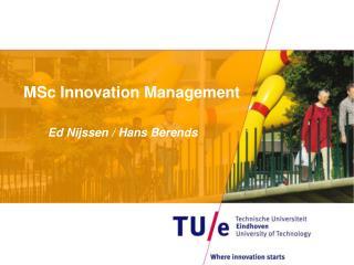 MSc Innovation Management