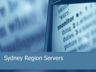Sydney Region Servers