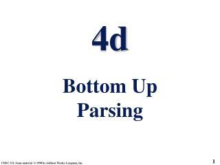 4d Bottom Up Parsing