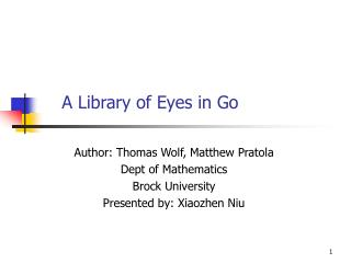A Library of Eyes in Go