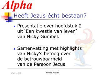 Heeft Jezus  cht bestaan