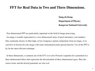 FFT for Real Data in Two and Three Dimensions.