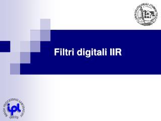 Filtri digitali IIR