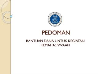 PEDOMAN
