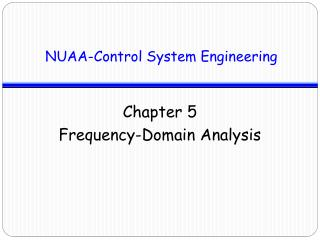 Chapter 5  Frequency-Domain Analysis