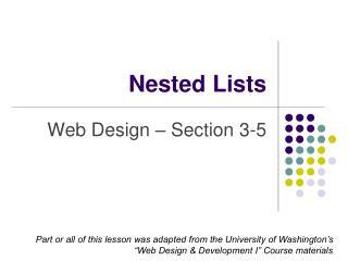 Nested Lists