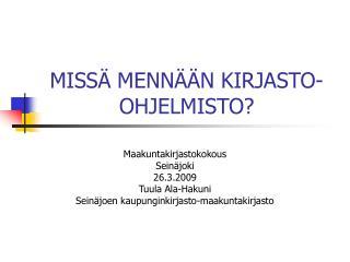 MISS  MENN  N KIRJASTO-OHJELMISTO
