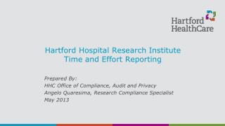Hartford Hospital Research Institute Time and Effort Reporting