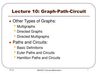 Lecture 10: Graph -Path-Circuit