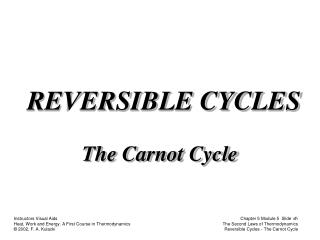 REVERSIBLE CYCLES