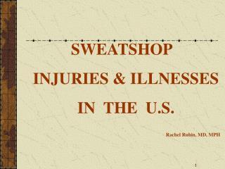 Definition of Sweatshops